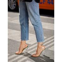 My Poppi Shoes Victoria Neon 10 cm Şeffaf Topuklu Kadın Ayakkabı