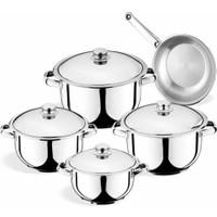 Manheim Cookware 9 Parça Çelik Çeyiz Seti