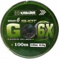 Kabura G-6x %100 Super Pe Braid 6 Örgü 0,14MM 100MT.