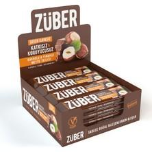 Züber Kakaolu Ve Fındıklı Doğal Meyve Tatlısı 40G 12 Adet