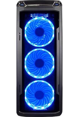 Xigmatek Hawthorn EN9535 Siyah USB 3.0 + USB 2.0 12 cm Mavi 15 Led Fanlı ATX Kasa