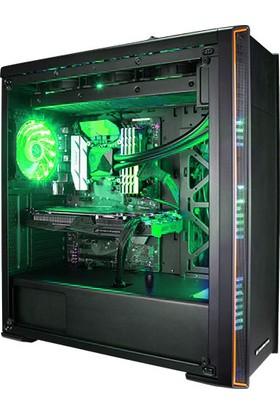 Xigmatek Midgard V EN40384 3x15 Ledli Yeşil Fan Kasa