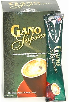 Gano Excel Supreno Öğütülmüş Kahve 21 gr - 20 Poşet