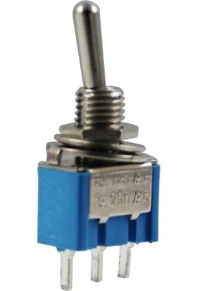 Mykablo Toggle Switch Iğne Ayak On-Off 6 mm