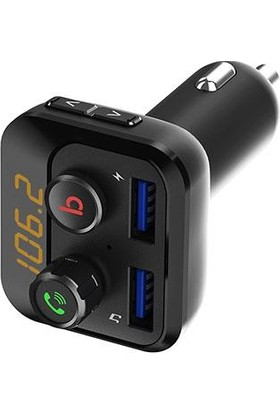 S-Link Fm Transmitter SL-BT234 USB/BT + Tf Desteği Çift USB 3.4A