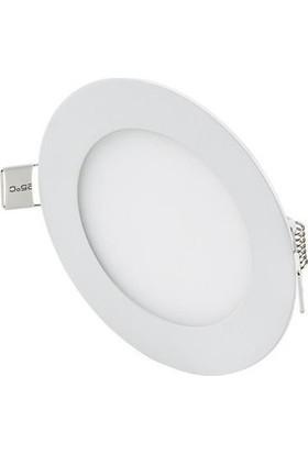 Hightek LED Panel Armatür Yuvarlak 6400 K 6W