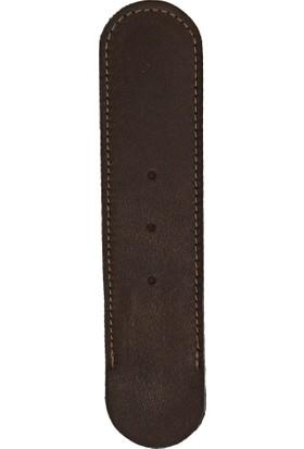 E+M 1425-065 Stecketui Deri Kalem Kılıfı Koyu Kahverengi