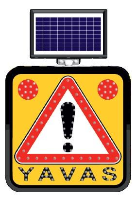 Fm Trafik Solar Ledli Yol Bakim Levhasi 60 x 60 cm Yavaş