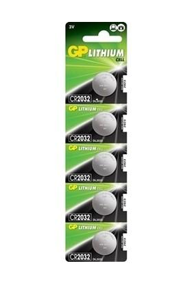 Gp CR2032 Lityum Düğme Pil 5'li Blister 2032