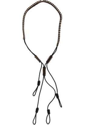 Ördek Düdüğü Boyun Askılığı 4'lü Kahverengi - Krem