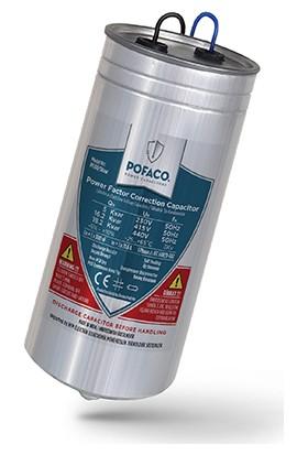 Pofaco 5,00 Kvar 230V Monofaze Silindir Tip Kondansatör