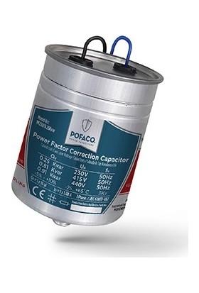 Pofaco 0.25 Kvar 230V Monofaze Silindir Tip Kondansatör