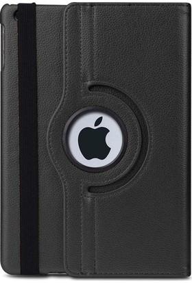 Cepmarketim iPad 10.2'' 7. Nesil A2197 A2200 A2198 Kılıf 360 Rotating Stand Deri Siyah