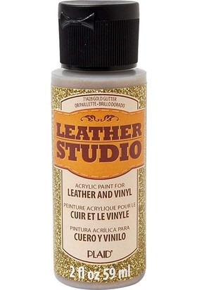 Plaid Leather Studio Deri Boyası 59 ml Simli Altın