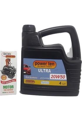 Powerten Motor Yağı 20W50 + Bor Powerten Motor Yağ Katkısı