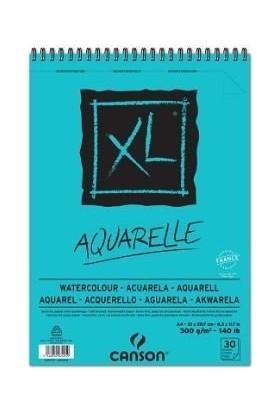 Canson XL Aquarelle Suluboya Resim Defteri Spiralli A4 30 Yaprak 300gr