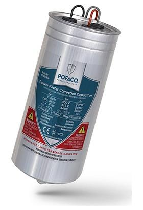 Pofaco 1,00 Kvar 400V Trifaze Silindir Tip Kondansatör