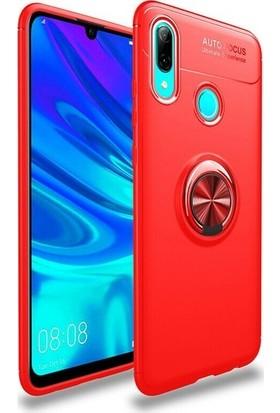Omelo Xiaomi Mi 6X Kılıf Silikon Yüzüklü Standlı Metal Araç Tutuculu Ravel Tpu Kırmızı
