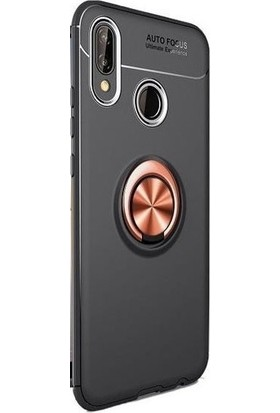 Omelo Xiaomi Mi 6X Kılıf Silikon Yüzüklü Standlı Metal Araç Tutuculu Ravel Tpu Siyah Rose Gold