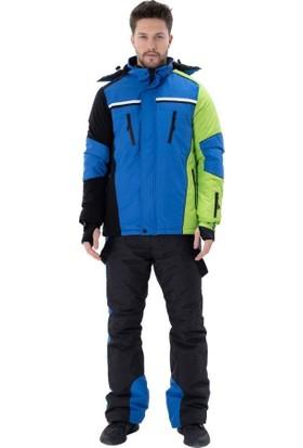 Exuma 2011017 Erkek Elyaflı Mavi Kayak Montu