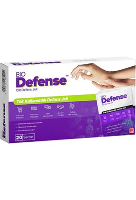 Bio Defense Jel Dezenfektanı 20 Saşe