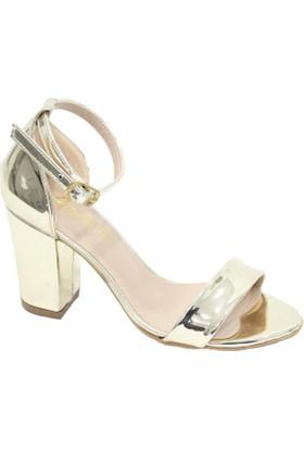 Arıcı Altın Rugan Tek Bant Açık Ayakkabı