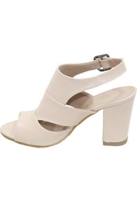 Arıcı Vizon Topuklu Sandalet