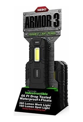 Nebo 6526 Armor 3 360 Lümen LED Fener 16LI Stand (Tekli)