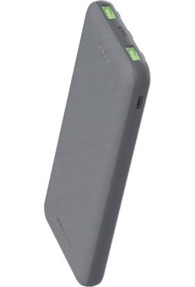 Polosmart 10.000 Mah 3 Girişli Süper Hızlı Şarj Özellikli Powerbank - Gri
