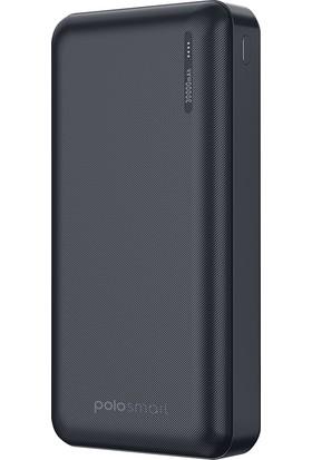 Polosmart 30.000 Mah 3 Girişli Süper Hızlı Şarj Özellikli Powerbank
