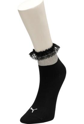 Puma Sg Ruffle Short Sock 1P Siyah Kadın Çorap