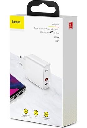 Baseus Pps 30W Hızlı Şarj Başlığı CCFS-C01 Beyaz