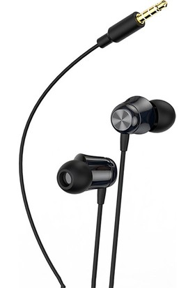 Baseus Encok H13 3.5mm Jack Mikrofonlu Kulak İçi Kulaklık Auriculares Fone De Ouvido Siyah - NGH13-01