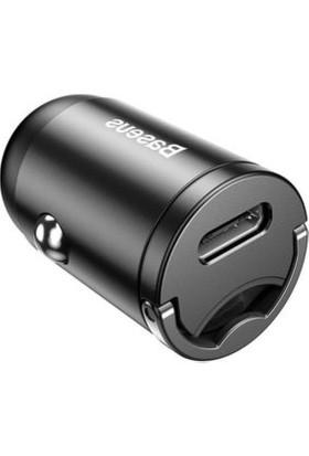 Baseus VCHX-B0G Tiny Star Mini PPS Type-C Port 30W Hızlı Araç Şarj Cihazı Siyah