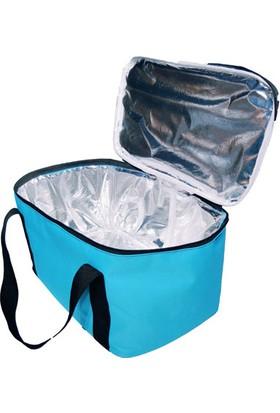 Carneil 27 Litre Sıcak Soğuk Korumalı Soğutucu Buzluk Kamp Piknik Çantası Termal Alüminyum Folyo Kaplı H200 Açık Mavi