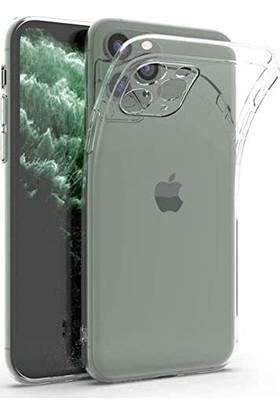 Soffany Apple iPhone 11 Tıpalı Kamera Korumalı Silikon Kılıf Şeffaf