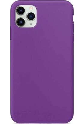 Mahzen Apple iPhone 11 Pro Max Logosuz Lansman Kılıf Mor