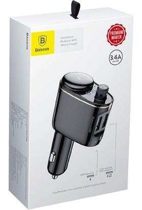 Baseus Araç FM Transmitter Dijital Bluetooth Adaptörü Şarj Aleti CCALRH 01