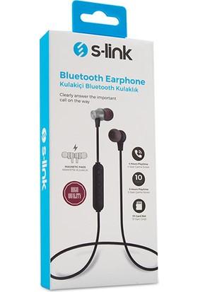 S-link SL-BT45 TF Card + Bluetooth Kulak İçi Gümüş Mikrofonlu Kulaklık