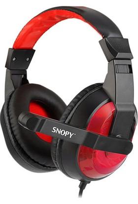 Snopy SN-633 Siyah/Kırmızı Kulak Üstü Oyuncu Mikrofonlu Kulaklık