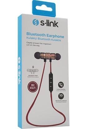 S-link SW-BT14 Mıknatıslı Siyah/kırmızı Bluetooth Kulaklık