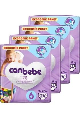 Canbebe Bebek Bezi 6 Beden XL Aylık Ekonomik Paket 4 x 24'lü 96 Adet