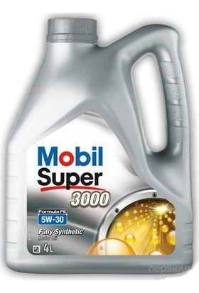 Mobil Super 3000 Formula Fe 5W/30 Benzin ve Dizel Motor Yağı 4 lt (Üretim Yılı : 2020)