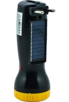 Gold Silver GS-7000 Güneş Enerjili Şarjlı El Feneri Sarı