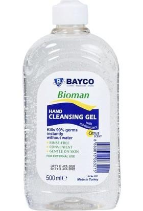 Bayco Bioman Alkol Bazlı Hijyenik El Temizleme Maddesi 12 Adet 500 ml