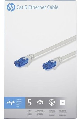 Hp Cat 6 Ethernet Kablosu 5m 2UX29AA
