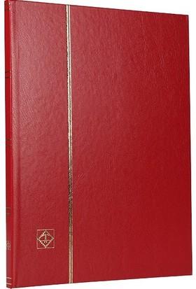 Leuchtturm Pul Defteri Basic Siyah Zemin Sert Kapak 8 Yaprak 16 Sayfa Kırmızı A4