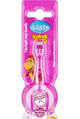 Bbrite Kukuli Işıklı Çocuk Diş Fırçası B-Brite Pembe