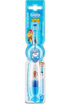 Bbrite Kukuli Işıklı Çocuk Diş Fırçası B-Brite Mavi