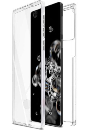 Tbkcase Samsung Galaxy S20 Kılıf 360 Ön Arka Silikon Şeffaf